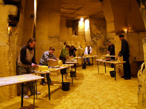 Mergelcarving workshop.